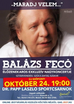 Szentesi nagykoncertjére készül Balázs Fecó