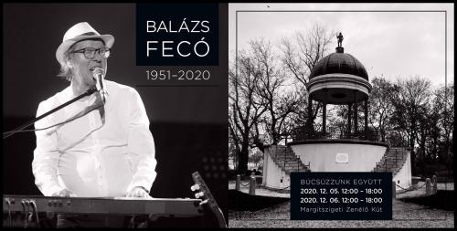Balázs Fecó emlékét őrzi a Margitszigeti Zenélő Kút